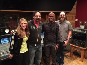 Pictured w Todd at Ardent Studios is Katie Toebbe, Eric Mackey and Tommu Lozure from Visible Music College